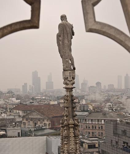Rytas,rūkas, Milanas. 2014 lapkritis